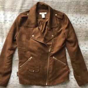 H&M Faux Suede Moto Jacket